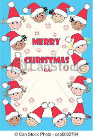 eps vector of merry christmas christmas card with ethnic mixed