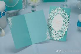 light blue wedding invitations light blue floral laser cut wedding invitations card with free gift