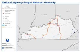 Ky Map National Highway Freight Network Map And Tables For Kentucky