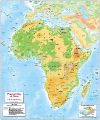 Maps Of Africa Children U0027s Physical Map Of Africa 12 99 Cosmographics Ltd