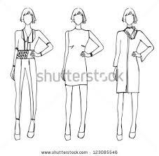 fashion sketch design winter theme stock vector 123085546