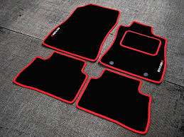 nismo nissan logo black red car mats to fit nismo nissan juke 2013 on nismo