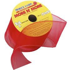 morex ribbon morex ribbon wired 2 1 2 inch chiffon ribbon with 20