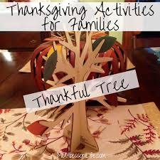 thanksgiving activities for families thankful tree momtessori