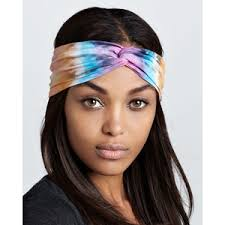 tie dye headbands brightly twisted tie dye turban headband polyvore