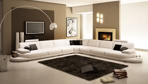 White Italian Leather Sectional Sofa Living Room 954 Contemporary White Italian Leather Sectional Sofa