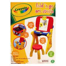 Kids Activity Desk by Grow N Up Crayola Fold N Go Art Studio Easel Hayneedle