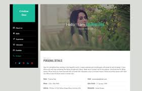 Bootstrap Resume Template 20 Best Cv Resume And Personal Html Bootstrap Templates U0026 Themes