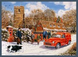 christmas royal mail nostalgic motoring christmas card by trevor