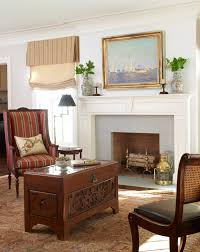 traditional livingroom shade with valance living room traditional with andirons