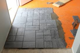 contemporary slate floor tiles kitchen beautiful black and