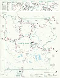 Utah Map National Parks by Yellowstone Yellowstone Wyoming Guide