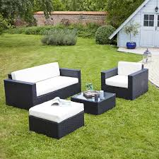 canapé de jardin en résine salon de jardin en resine tressee chaise jardin bois maisonjoffrois
