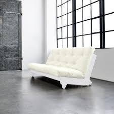 canapé futon banquette futon fresh en bois blanc 140x200 achat vente futon