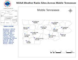 Nashville Zip Code Map by Noaa All Hazards Weather Radio