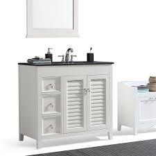 wyndenhall palmer 36 inch offset bath vanity in white with black