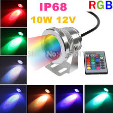 12 volt led lights waterproof cheap 4pcs lot outdoor pool l rgb waterproof spotlight 12 volt