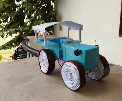 how to make a paper tructor tractor truck toy for kids story