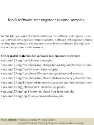 Resume For Manual Testing Top8softwaretestengineerresumesamples 150410084241 Conversion Gate01 Thumbnail 4 Jpg Cb U003d1428673404