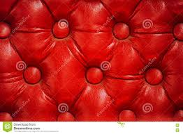 Retro Upholstery Texture Of Vintage Red Leather Upholstery With Buttons Stock