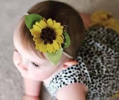 sunflower headband felt flower headband or alligator clip sunflower baby