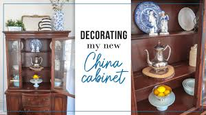 how to arrange dishes in china cabinet china cabinet decor ideas styling my new china cabinet hutch thrifted decorate with me