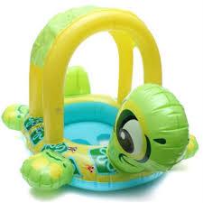 bouée siège pour bébé bouée siège gonflable avec pare soleil pour bébé en forme tortue