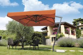 offset patio umbrella commercial steel aluminum napoli