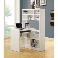 monarch specialties hollow core corner desk white left or right facing cappuccino hollow core side