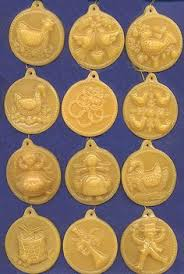 how to make beeswax ornaments with springerle cookie molds days