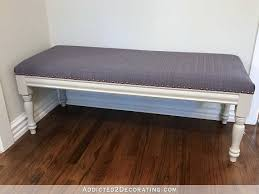 Dining Room Bench Seat Diy Upholstered Dining Room Bench Finished U2013 How To Upholster
