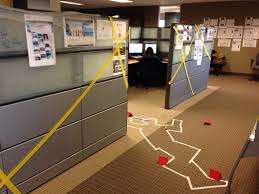 cube decorating contest in the office happy halloween crime