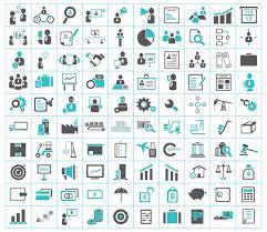 icones de bureau affaires finances expédition et icônes de bureau illustration