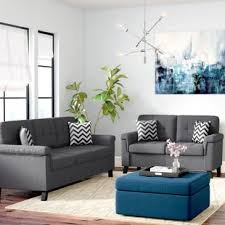 Designer Sofas For Living Room Modern Contemporary Living Room Sets You Ll Wayfair