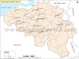map and belgium rail map