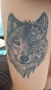 wolf mandala tattoo tattoos pinterest mandala wolf and tattoo