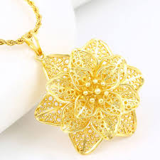 big chain necklace fashion images China 32595 fashion 24k gold big flower jewelry necklace pendant jpg