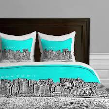 new york themed bedrooms total fab new york city skyline bedding
