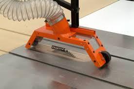 table saw vacuum dust collector exaktor exoa 2 table saw overarm blade cover and dust collector