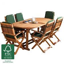 6 Seater Patio Furniture Set - robert dyas fsc country hardwood extending 6 seater dining set