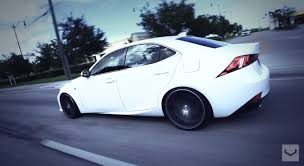 lexus 2014 white 2014 lexus is 350 f sport slammed on vossen cv5 wheels