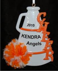 orange pom personalized ornaments by