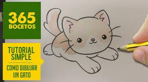 imágenes de gatos fáciles para dibujar como dibujar un gato kawaii paso a paso dibujos kawaii faciles