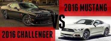 mustang vs dodge challenger 2016 dodge challenger vs 2016 ford mustang