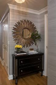 Entryway Mirrors Gold And Black French Foyer Cabinet With Gold Sunburst Mirror