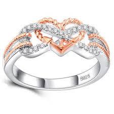 rings love heart images Hot 2018 new endless love heart shaped wedding rings 925 silver jpg