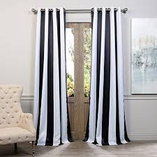 And White Curtains Black And White Striped Curtains