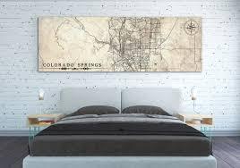 home decor colorado springs colorado springs canvas print co vintage map colorado springs