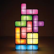 tetris stackable led desk lamp thinkgeek