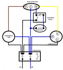 dual capacitor wiring diagram efcaviation com